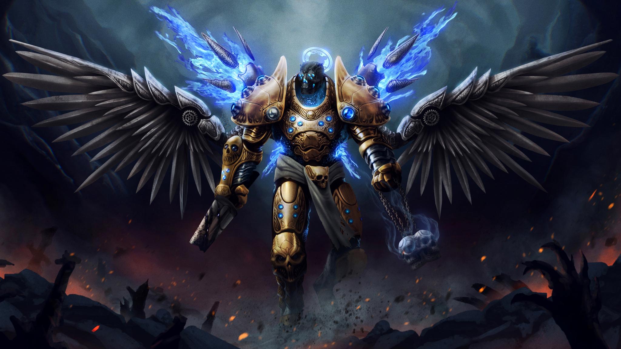 2048x1152 angel warrior 2048x1152 resolution hd 4k wallpapers