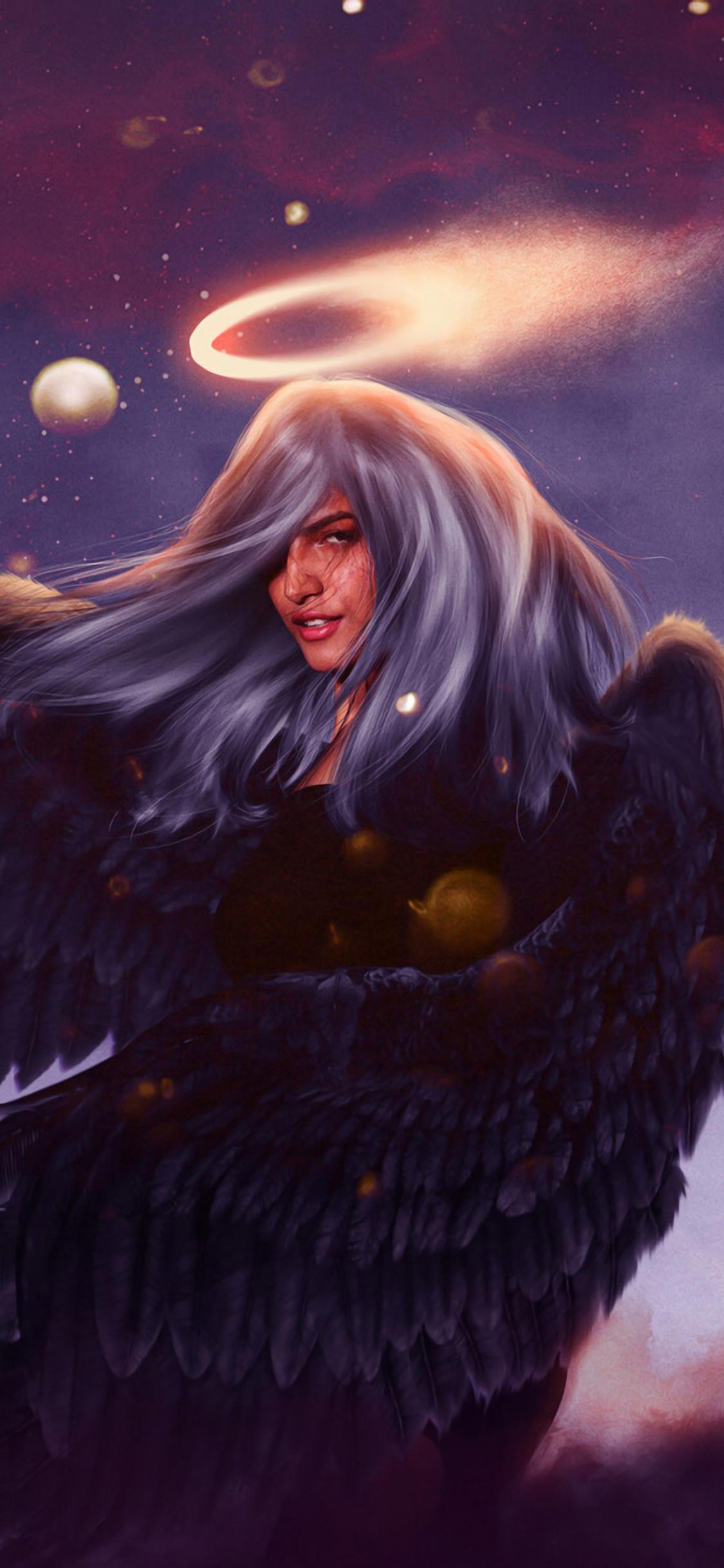 1125x2436 Angel Wings Fantasy Art 4k Iphone Xs Iphone 10