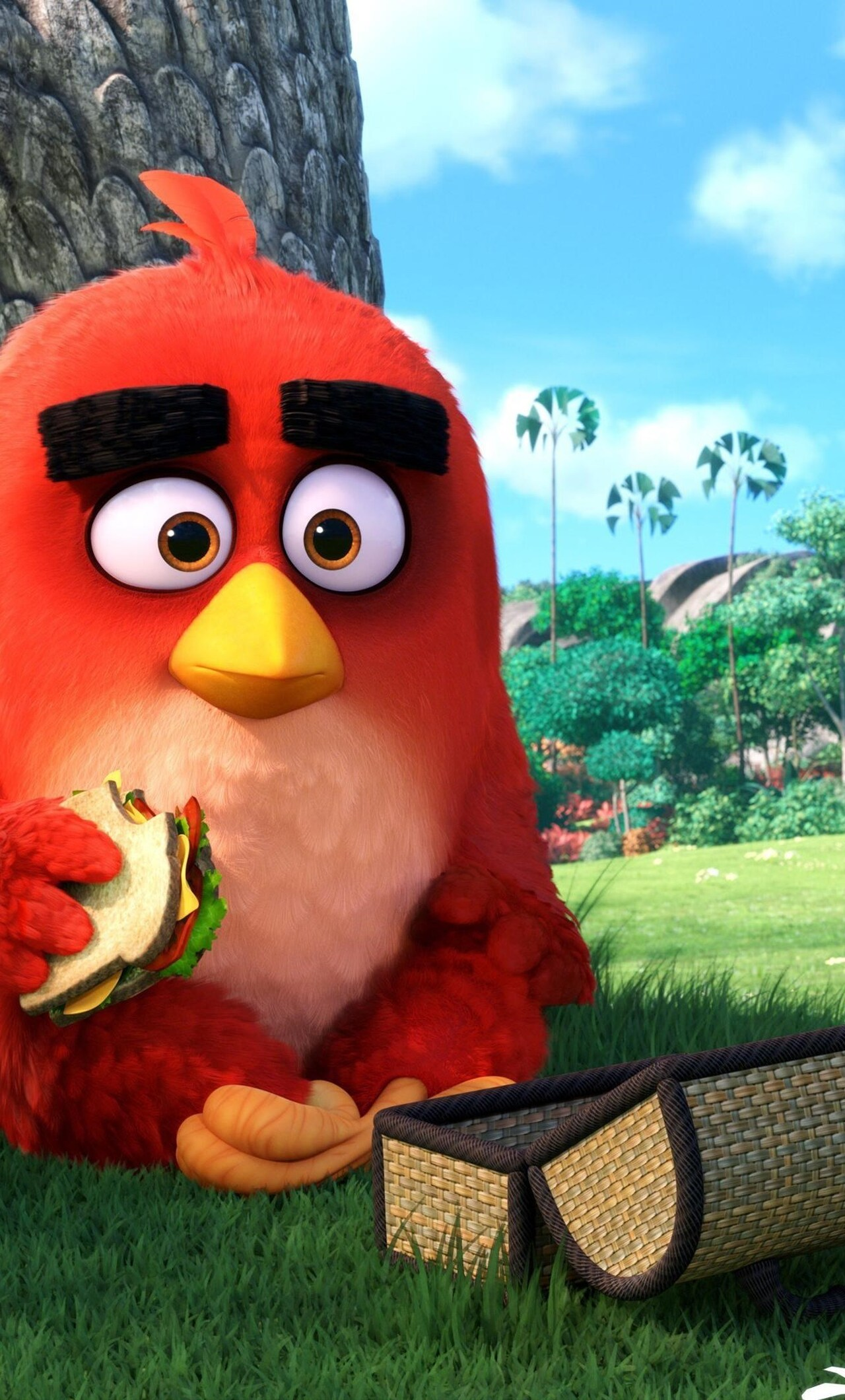 1280x2120 Angry Birds Main Character Iphone 6 Hd 4k Wallpapers