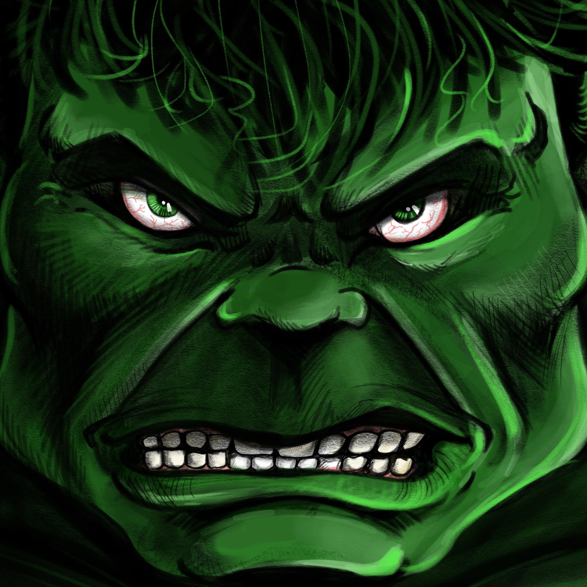 2048x2048 Angry Hulk 4k Ipad Air Hd 4k Wallpapers Images