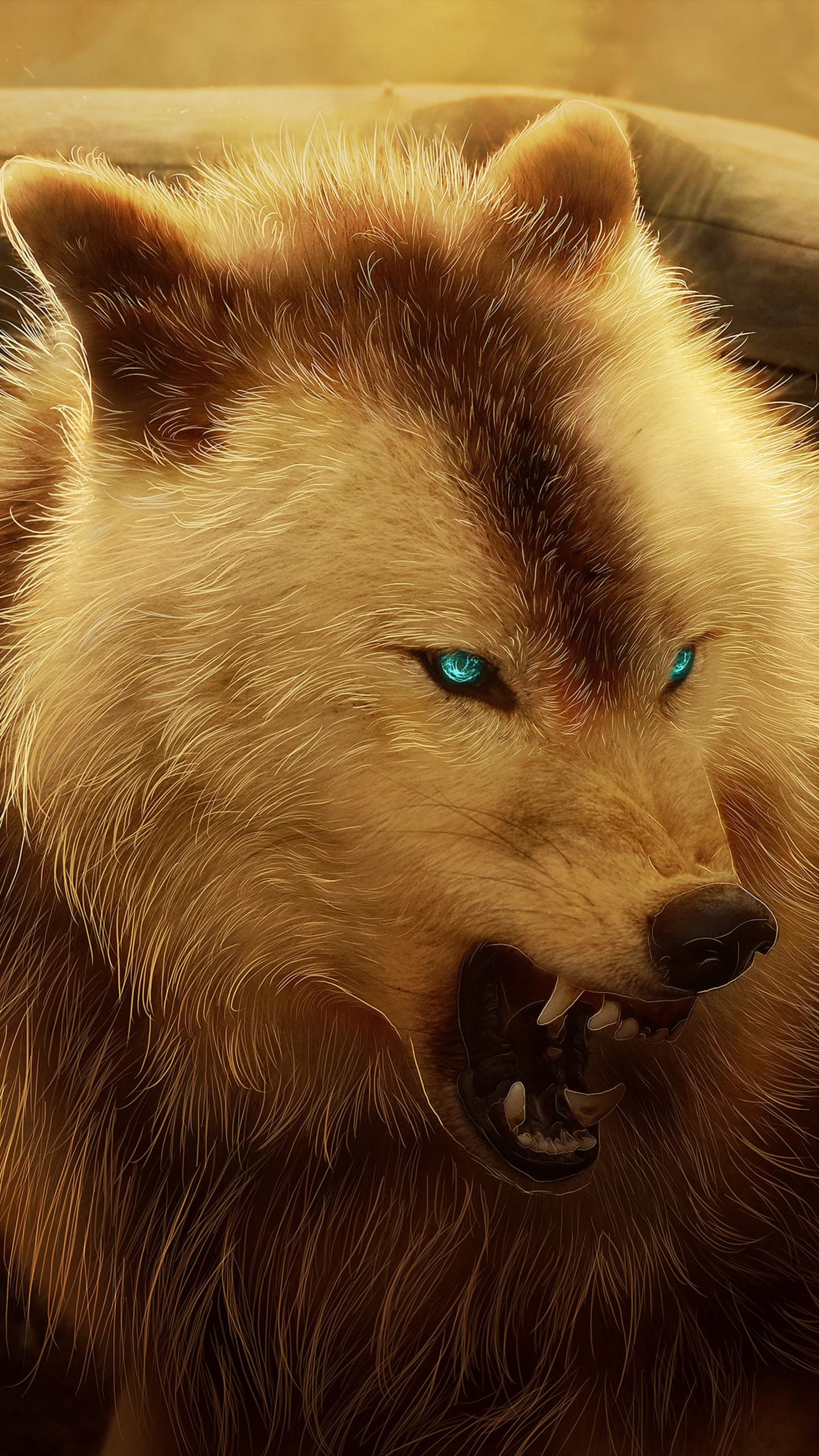1440x2560 Angry Wolf 4k Samsung Galaxy ...
