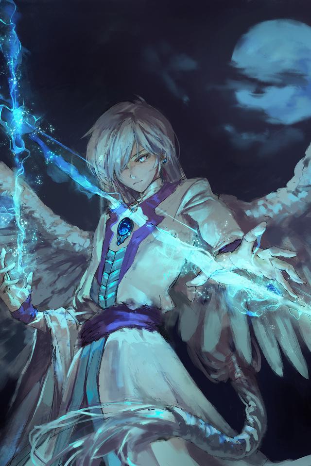 640x960 Anime Angel Boy With Magical Arrow iPhone 4 ...