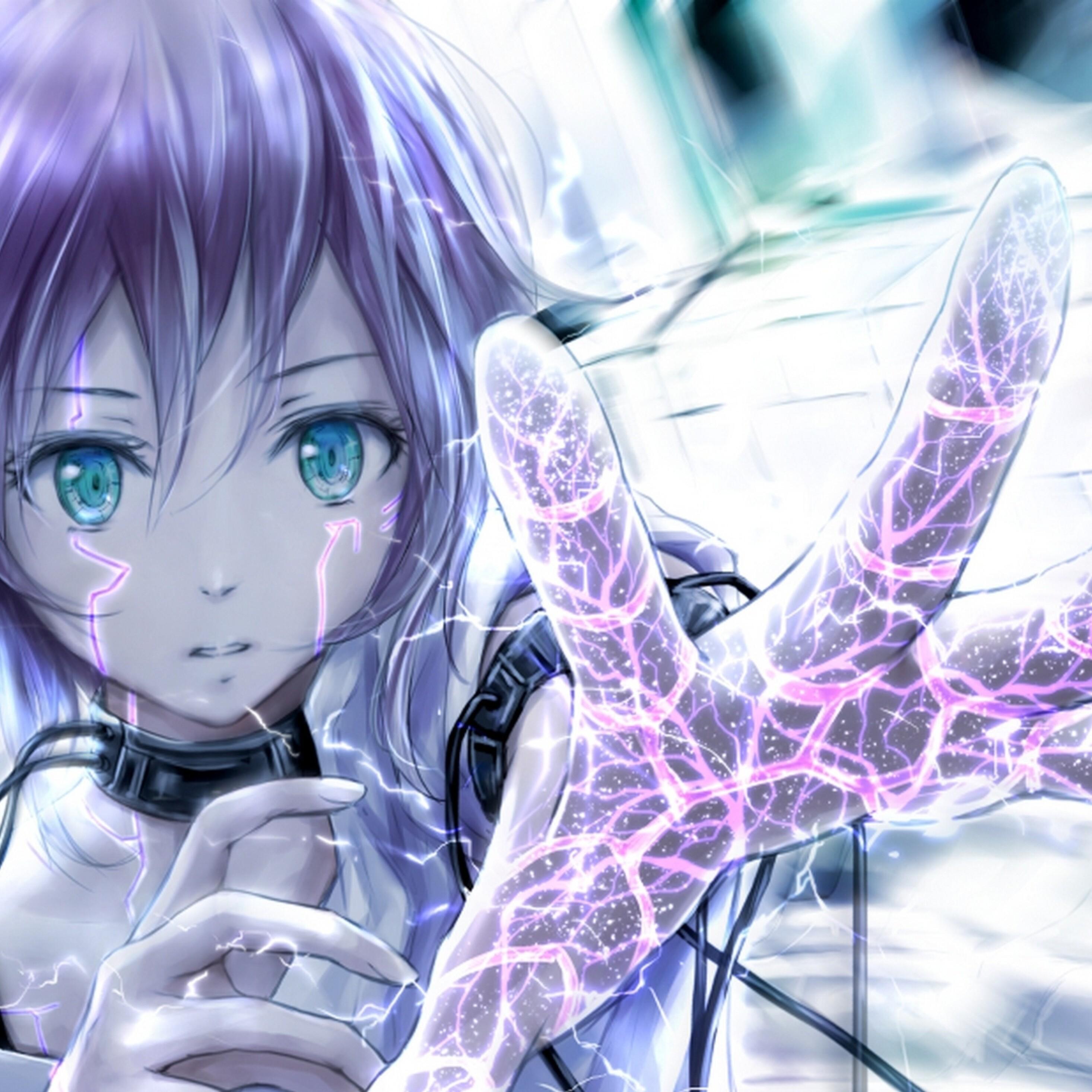 2932x2932 Anime Art Girl Ipad Pro Retina Display HD 4k ...