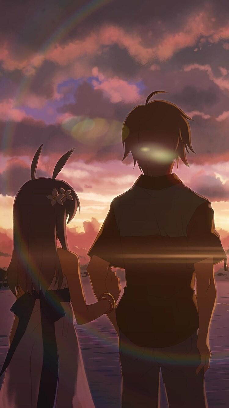 Alone Cartoon Girl 750x1334 anime boy and girl alone iphone 6, iphone 6s