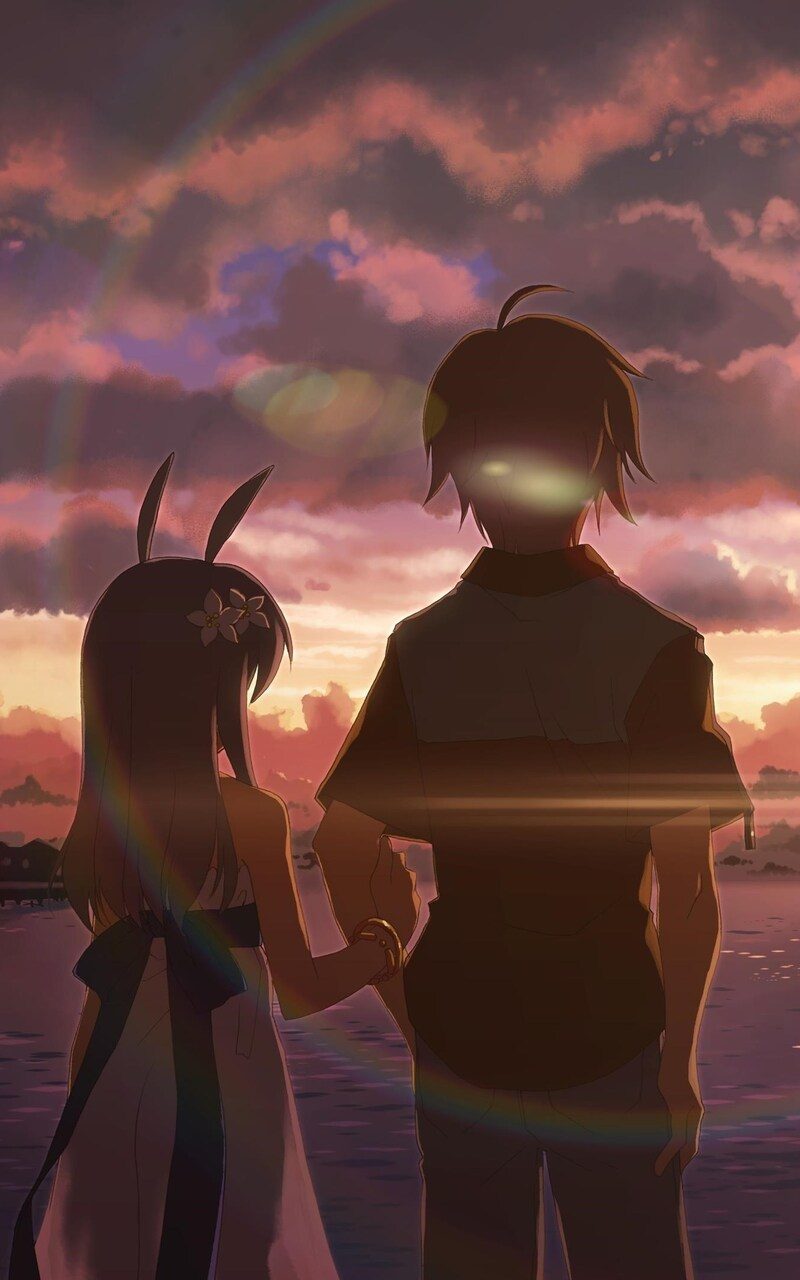 Anime boy and girl alone jpg