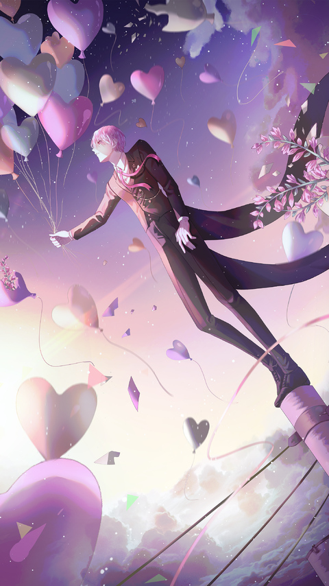 480x854 Anime Boy Balloons 4k Android One Hd 4k Wallpapers Images Backgrounds Photos And Pictures