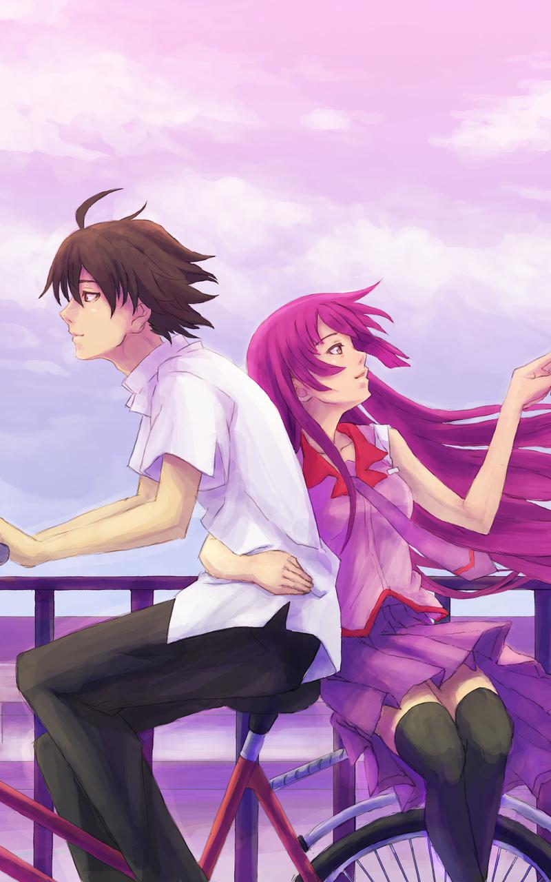 anime boy girl cycle 4k np