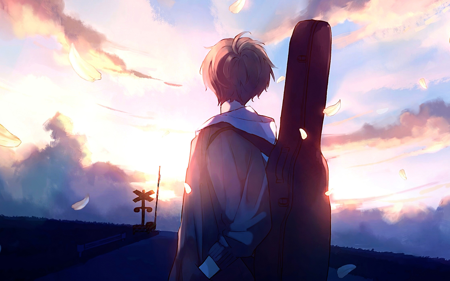 1440x900 Anime Boy Guitar Painting 1440x900 Resolution HD 4k Wallpapers, Images, Backgrounds ...