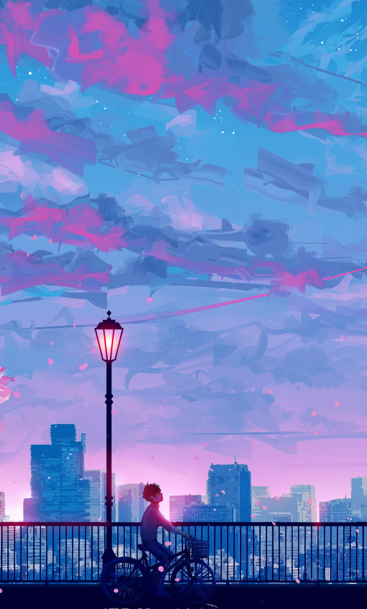 1280x2120 Anime Cityscape Landscape Scenery 5k Iphone 6 Hd