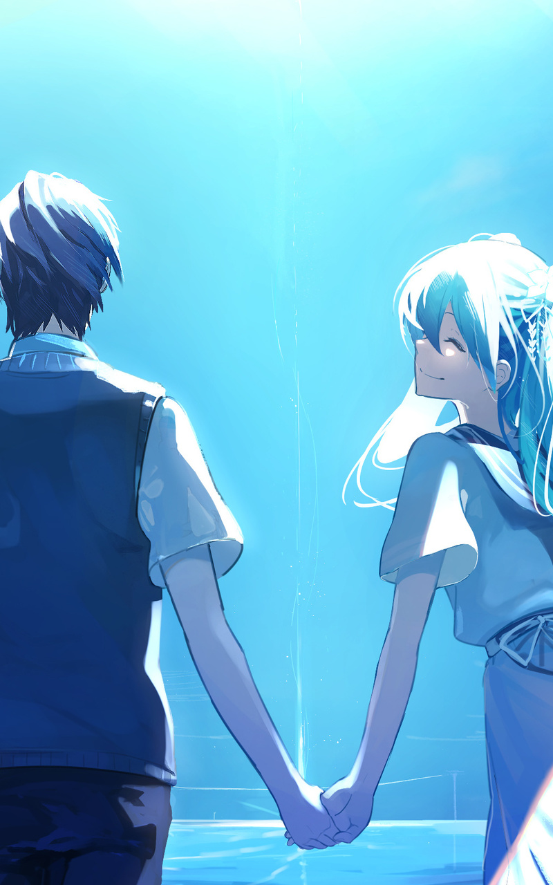 Anime couple holding hands hatsune miku rd jpg
