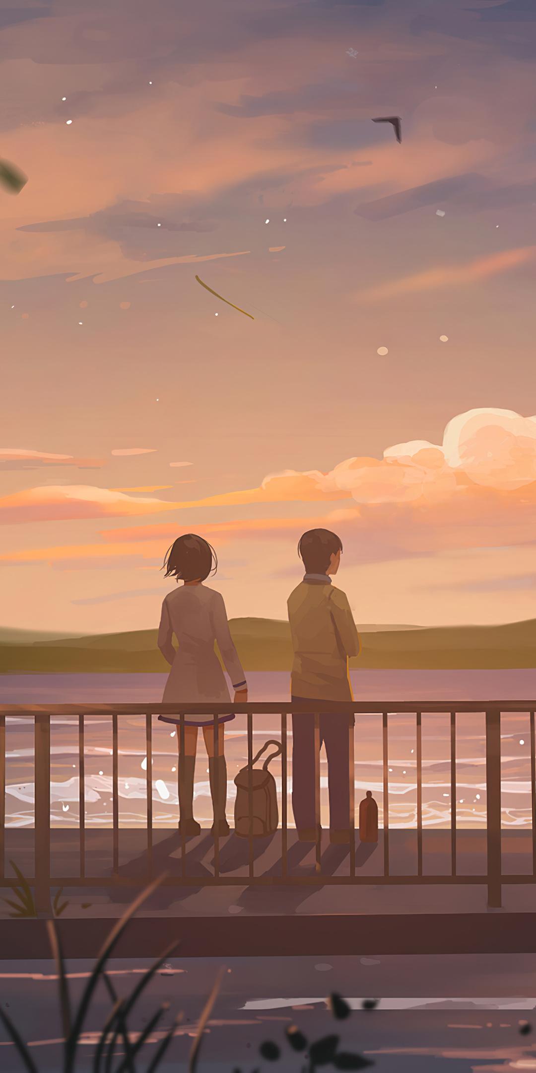 1080x2160 Anime Couple Lets Talk 4k One Plus 5T,Honor 7x ...