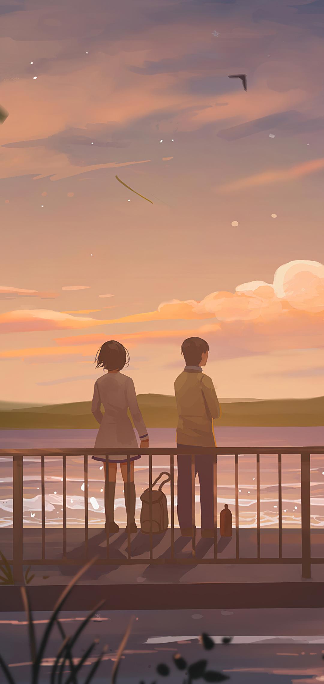 1080x2280 Anime Couple Lets Talk 4k One Plus 6,Huawei p20 ...