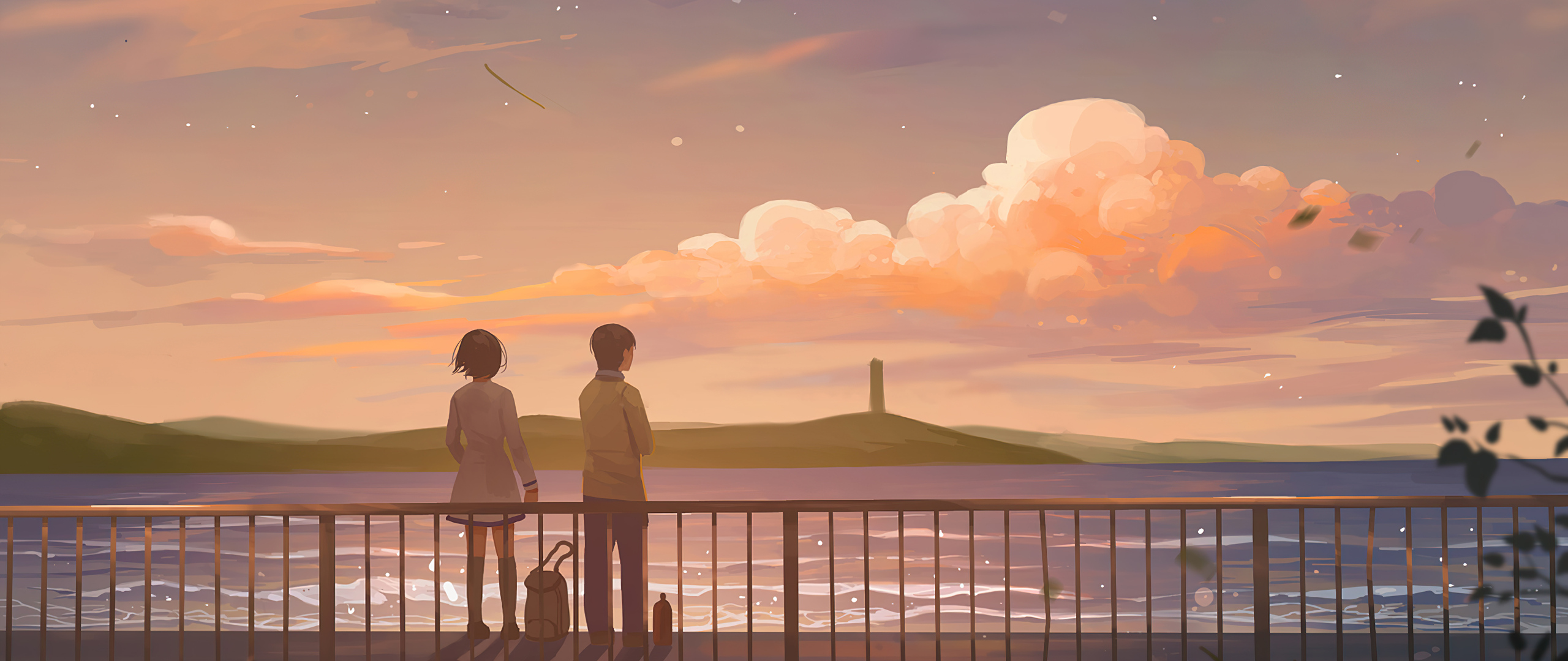 2560x1080 Anime Couple Lets Talk 4k 2560x1080 Resolution ...
