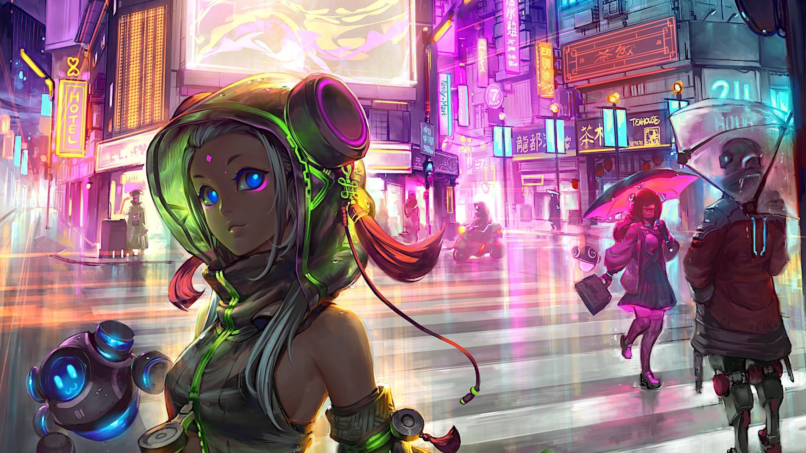 Anime Cyberpunk Scifi City Ow Jpg