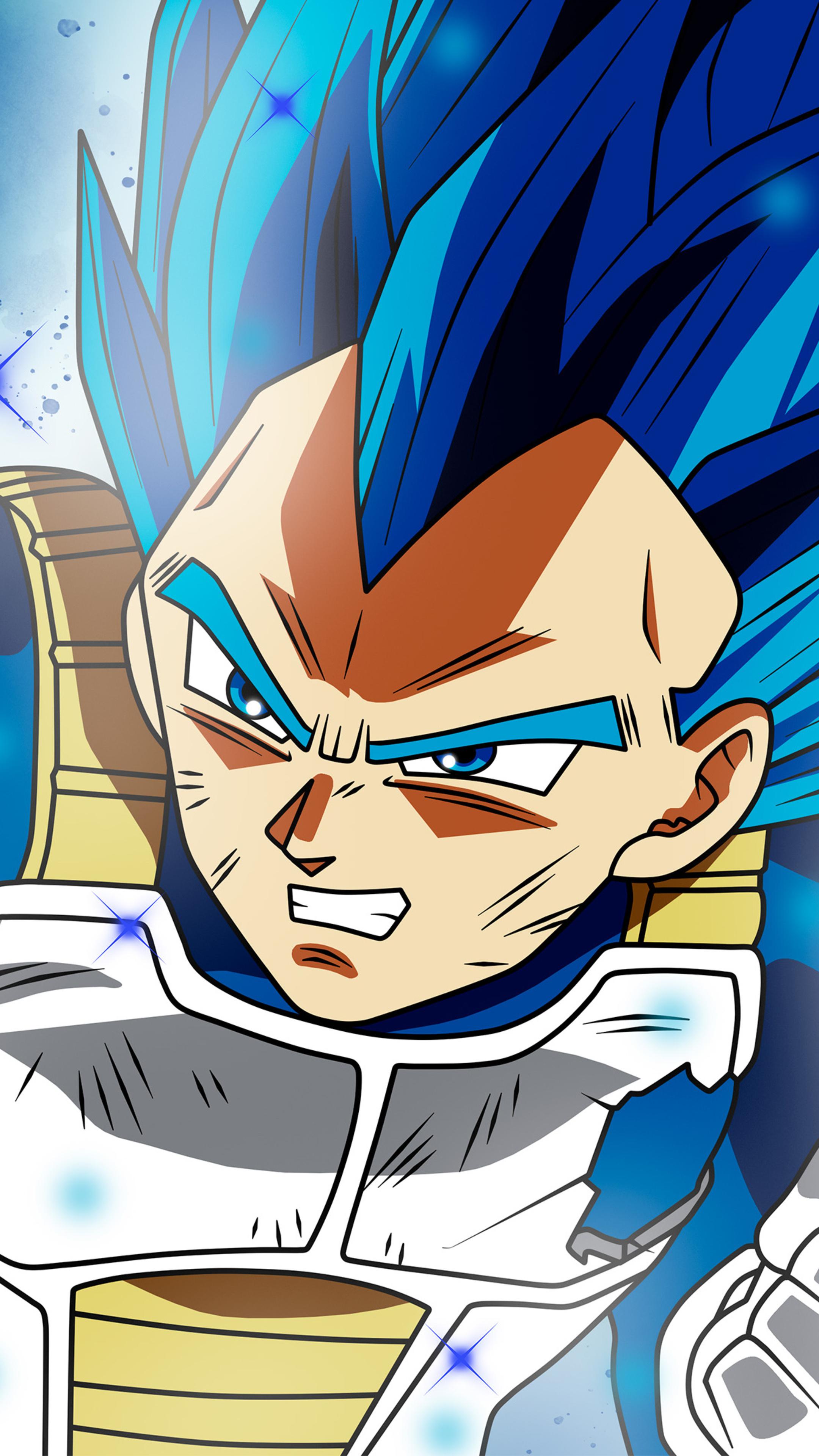 2160x3840 Anime Dragon Ball Super Vegeta Ssj Blue Full Power