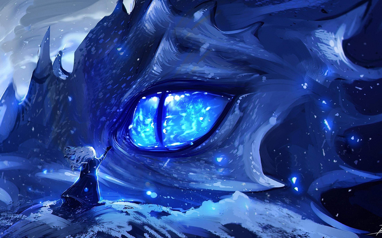 2880x1800 anime dragon eye macbook pro retina hd 4k - Anime backgrounds com ...
