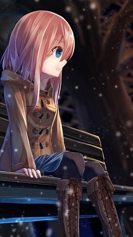 540x960 Anime Girl Alone 540x960 Resolution Hd 4k Wallpapers Images