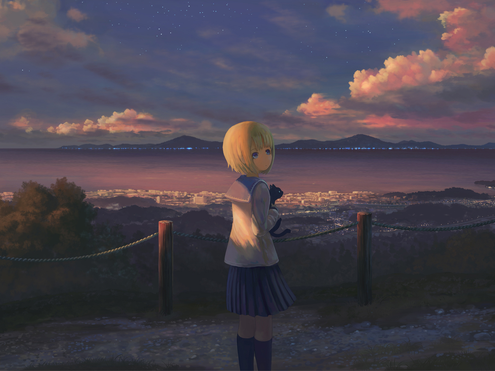 1600x1200 Anime Girl Alone Standing 1600x1200 Resolution Hd 4k