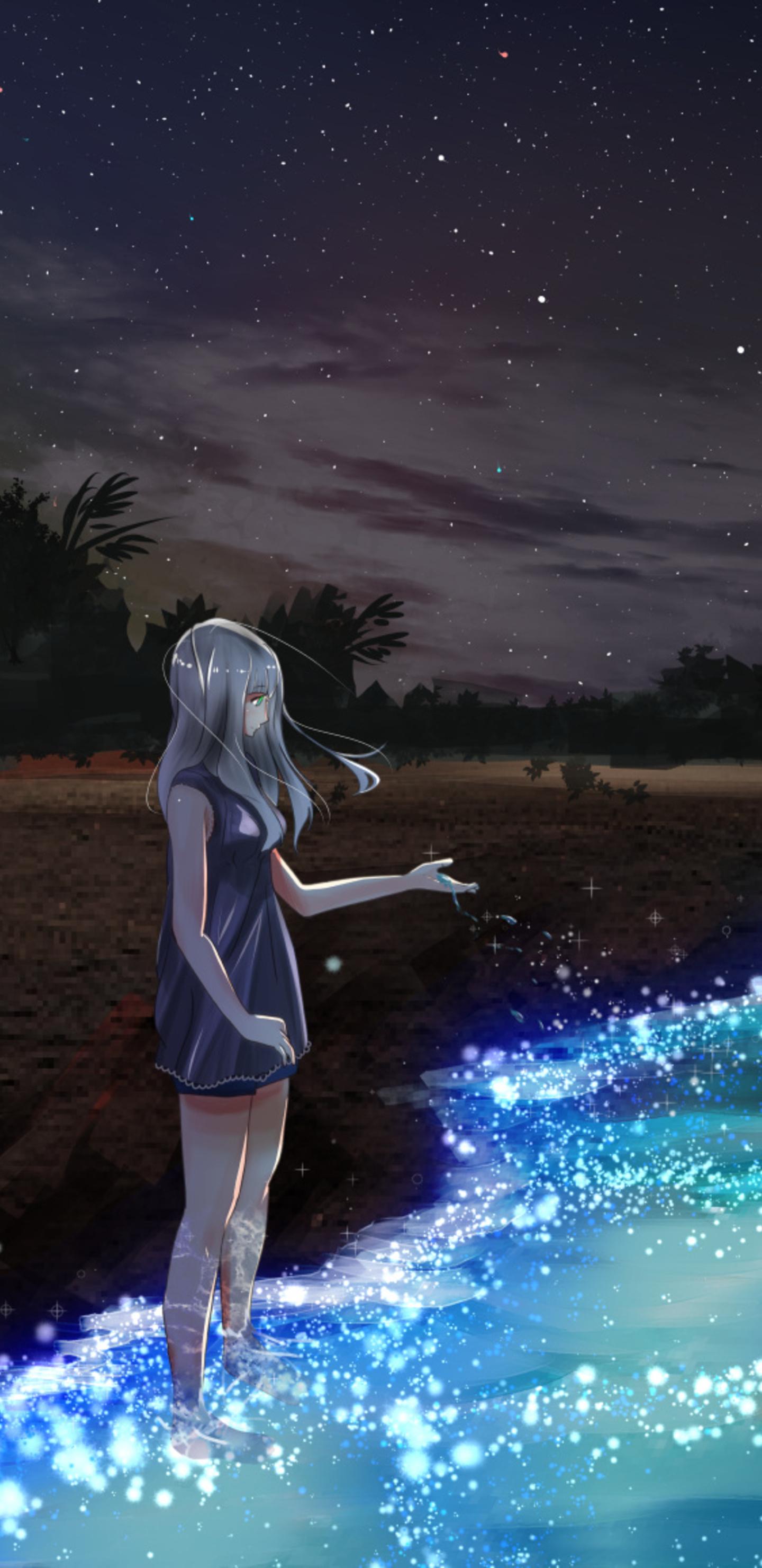 13 Anime Wallpaper Galaxy Girl