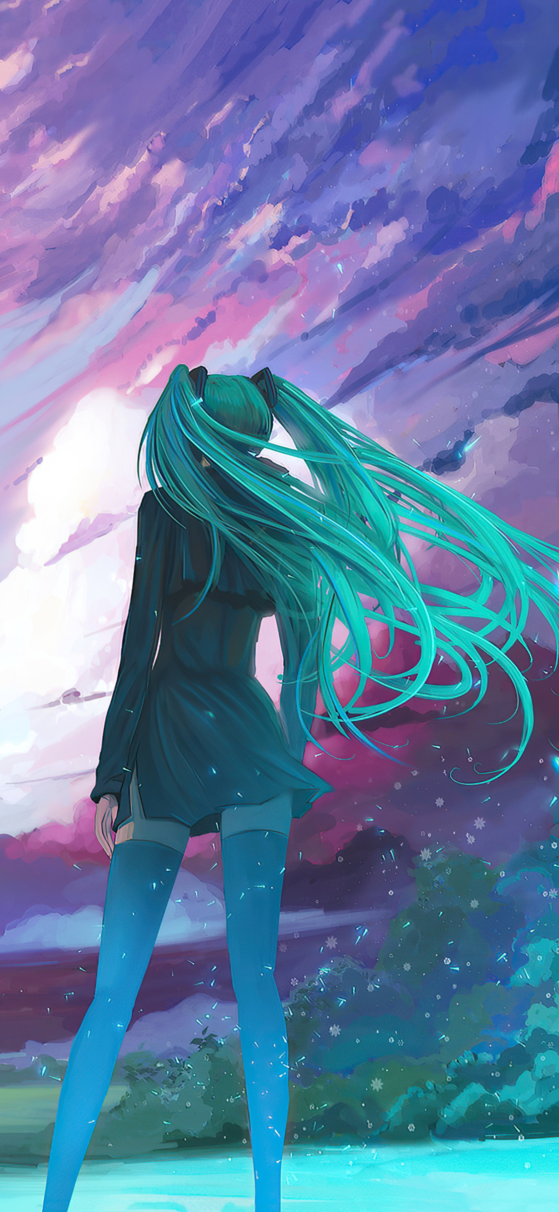 1125x2436 Anime Girl New Vibes 4k Iphone XS,Iphone 10