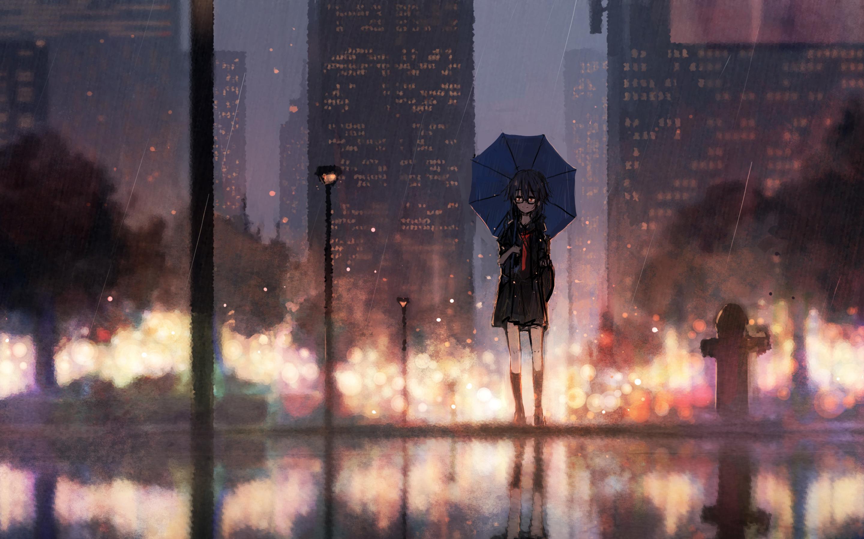 Rainy Anime Wallpaper