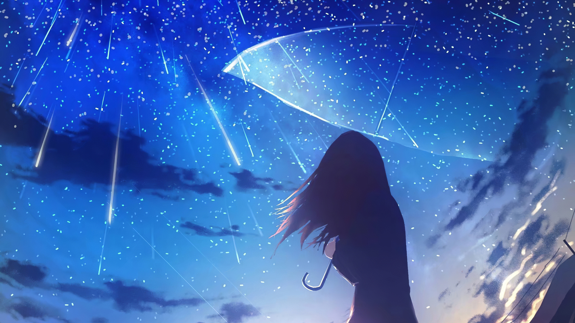 1920x1080 Anime Girl Umbrella Rain 4k Laptop Full HD 1080P ...