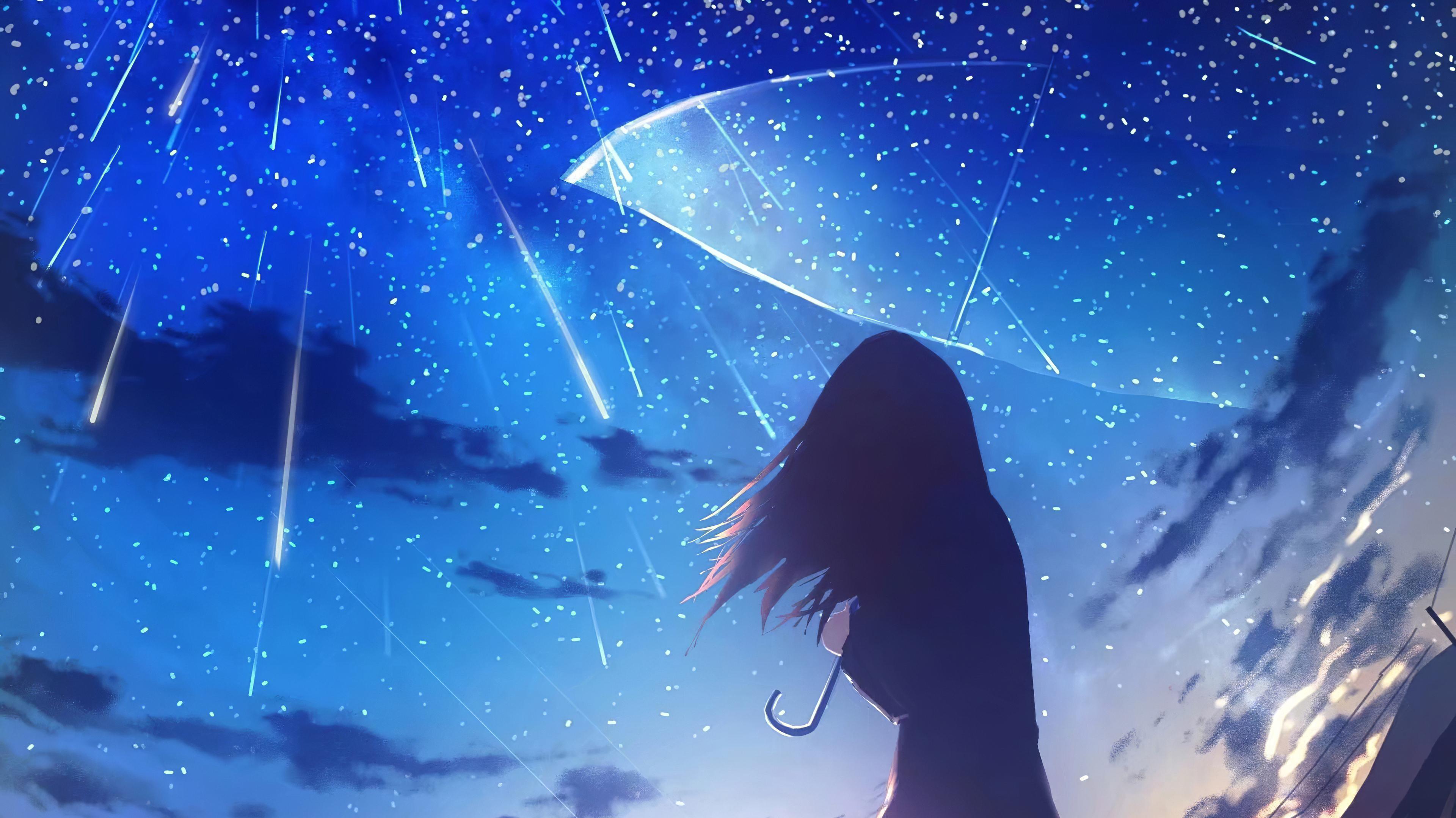 3840x2160 Anime Girl Umbrella Rain 4k 4k HD 4k Wallpapers ...