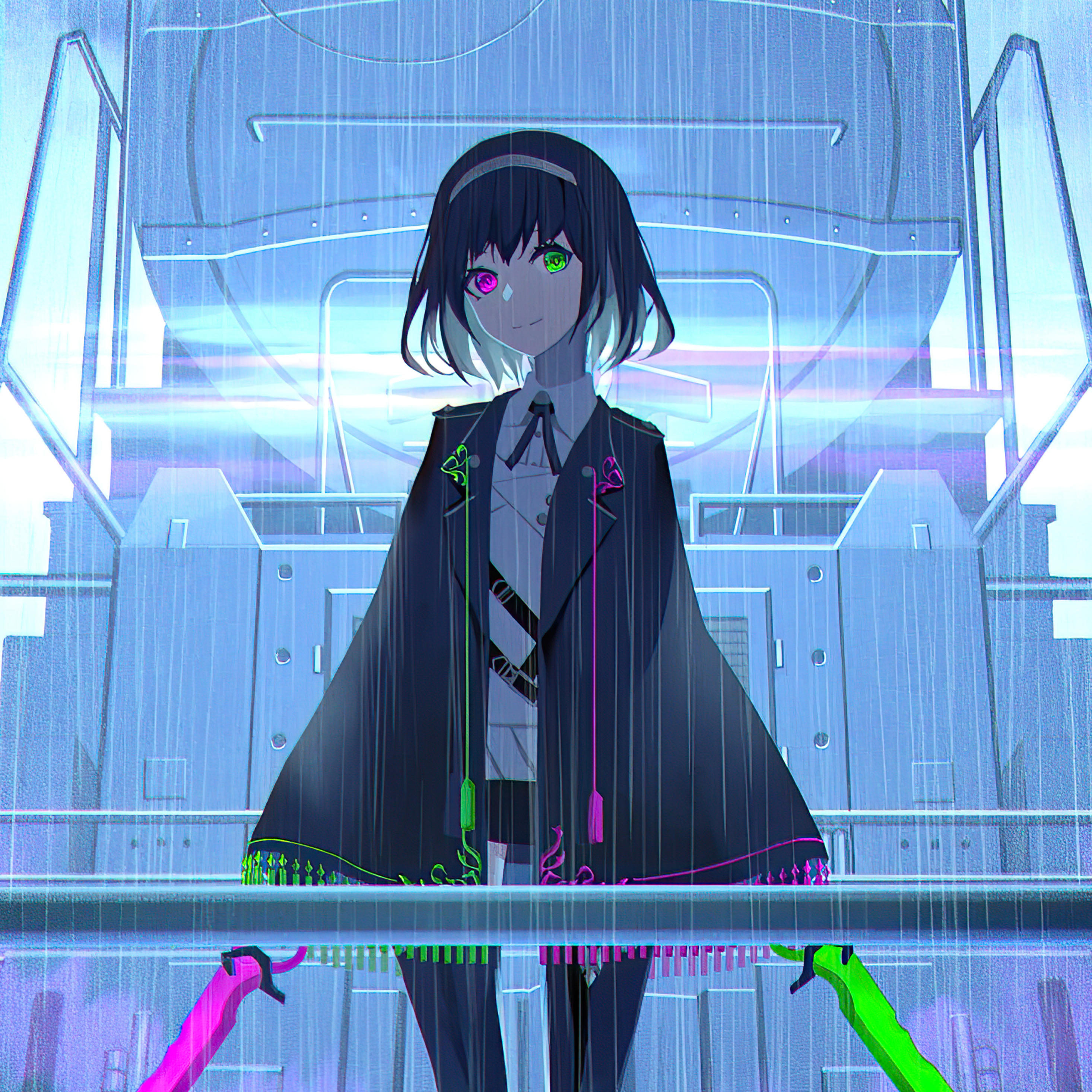 2932x2932 Anime Girl With Two Swords 4k Ipad Pro Retina ...
