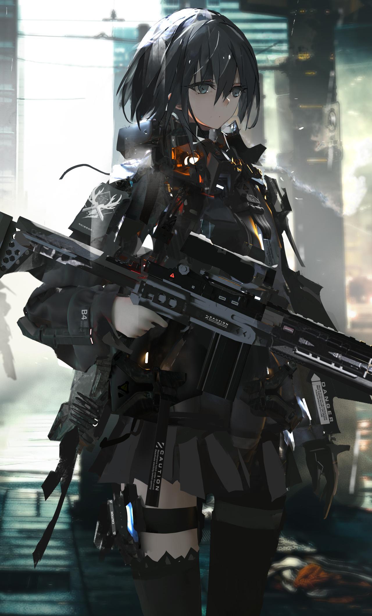 Anime Girl Wallpaper Gun - Anime Wallpaper HD