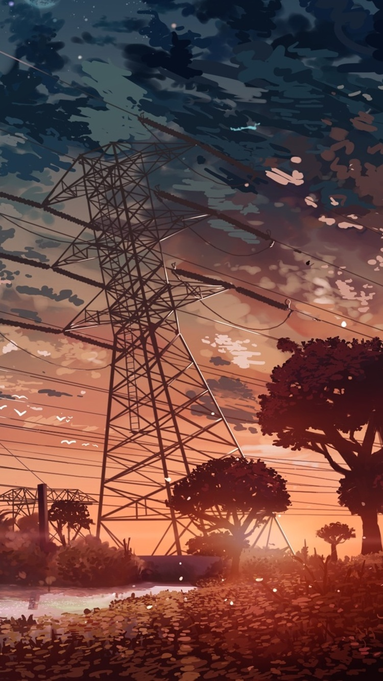 750x1334 Anime Landscape Iphone 6 Iphone 6s Iphone 7 Hd 4k