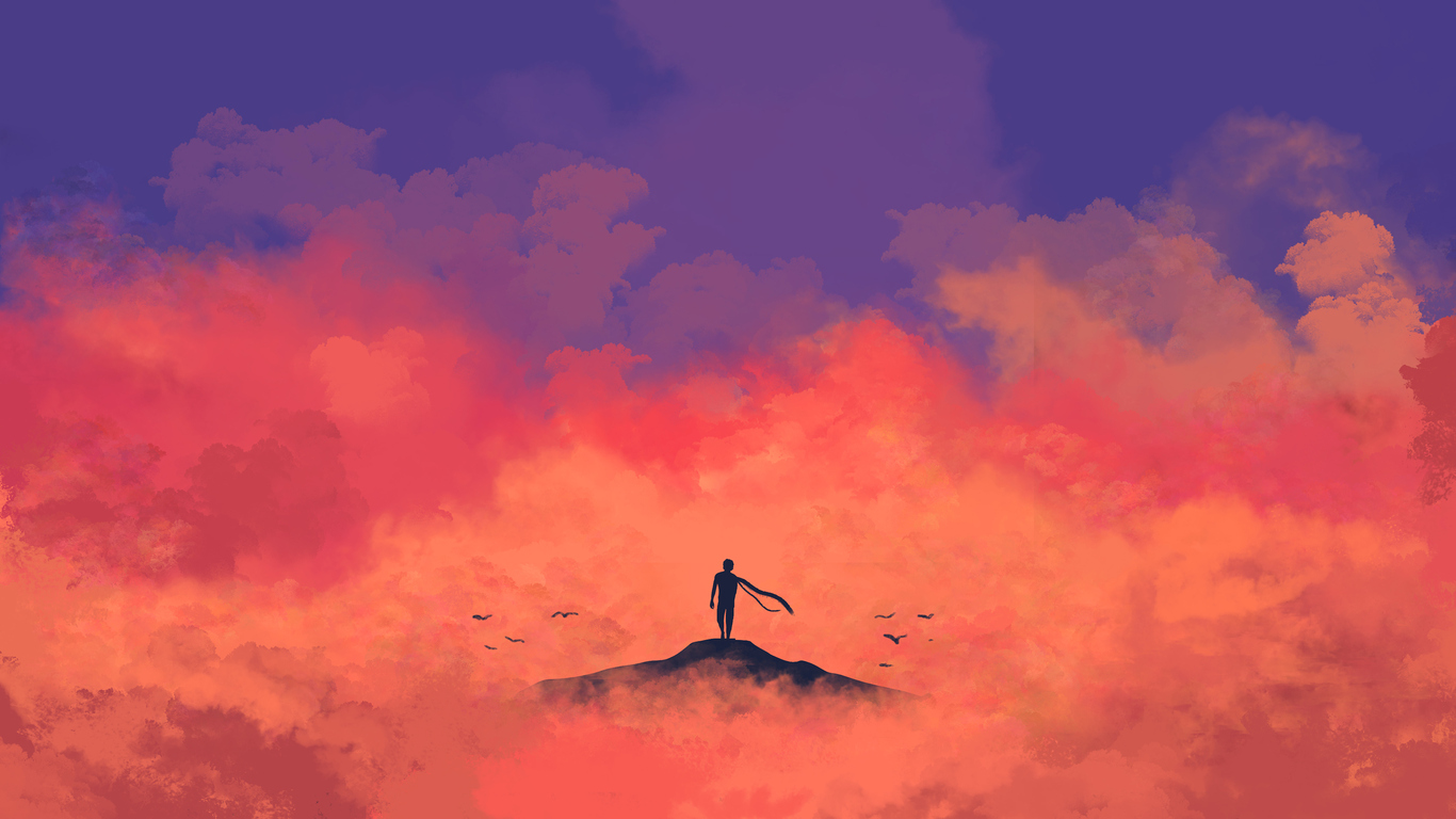 anime minimalism 4k 4e
