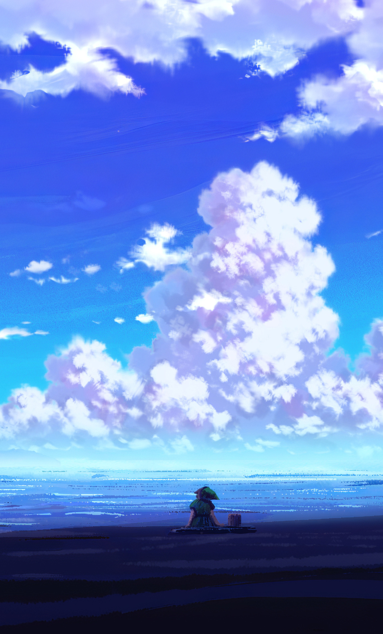 1280x2120 Anime Scenery Sitting 4k Iphone 6 Hd 4k Wallpapers Images Backgrounds Photos And Pictures