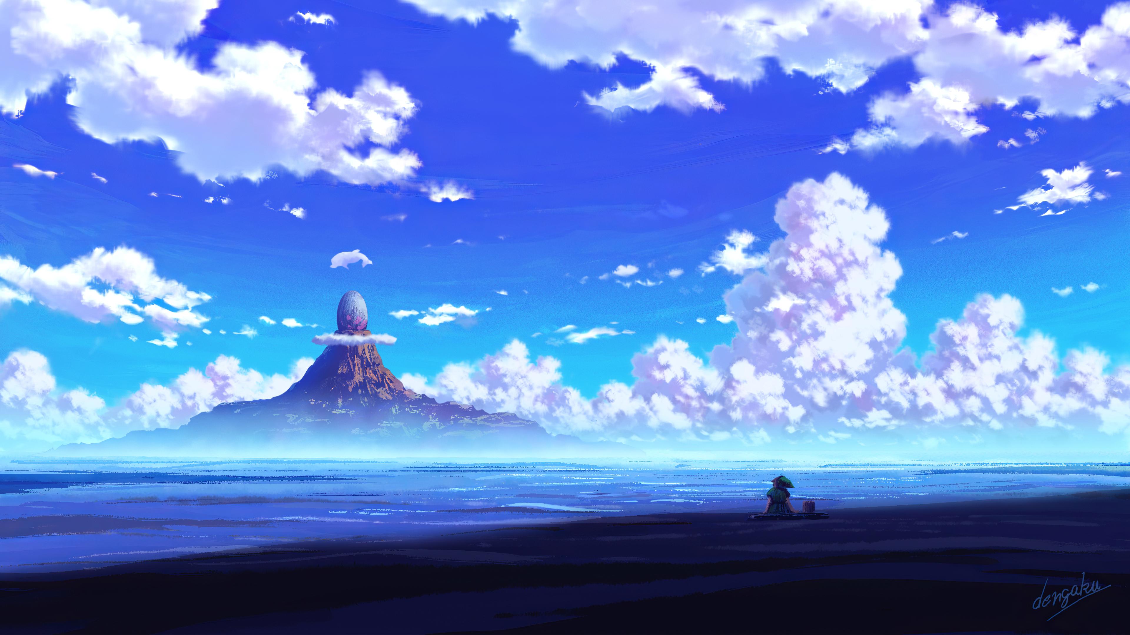 3840x2160 Anime Scenery Sitting 4k 4k HD 4k Wallpapers ...