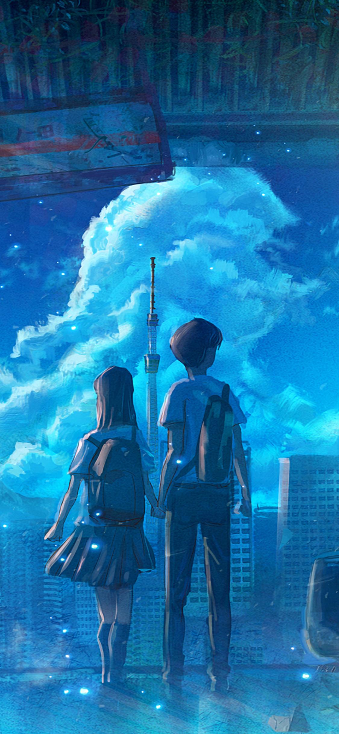 anime school couple od