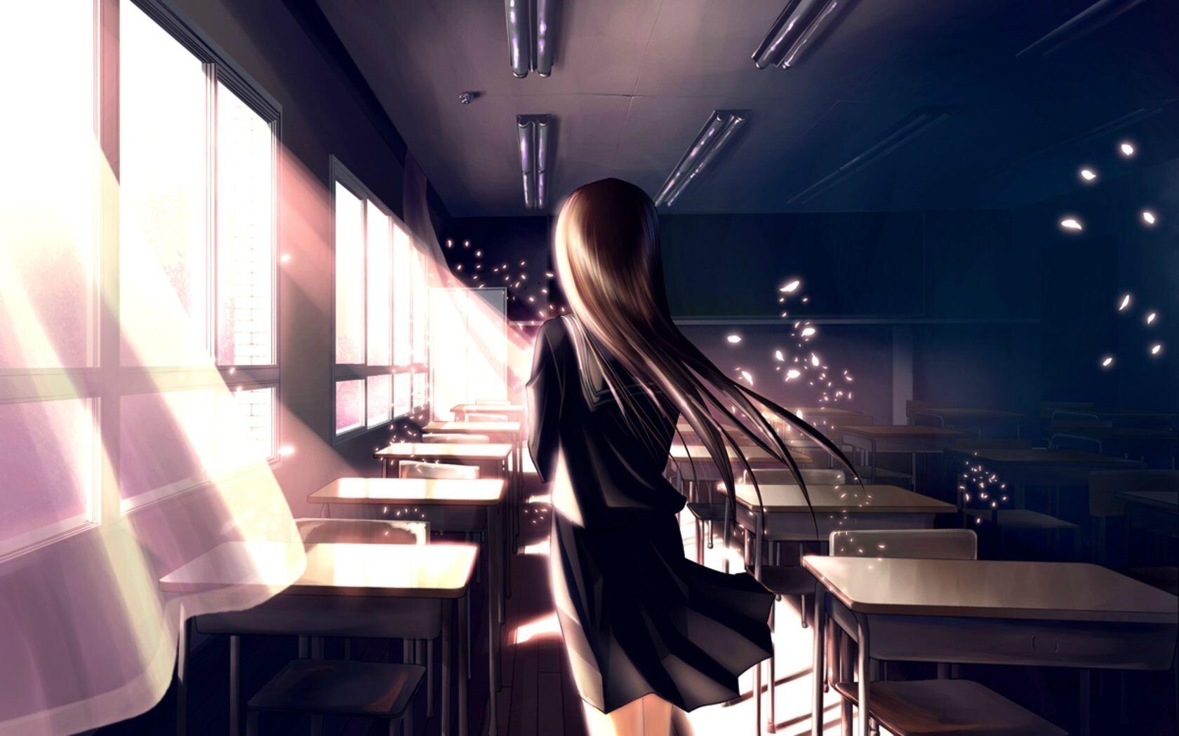 1680x1050 Anime School Girl Resolution HD 4k Wallpapers