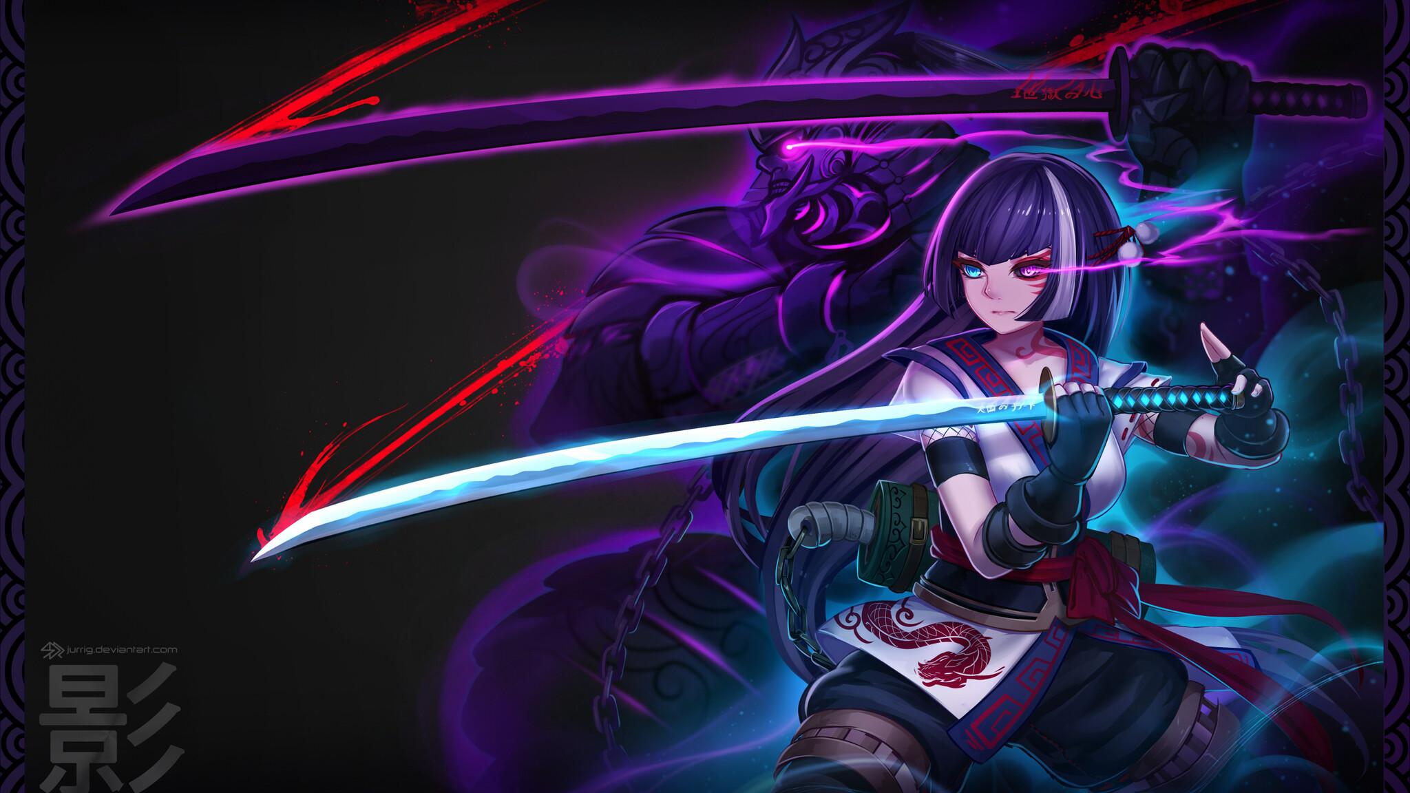 2048x1152 Anime Warrior Girl 2048x1152 Resolution HD 4k ...