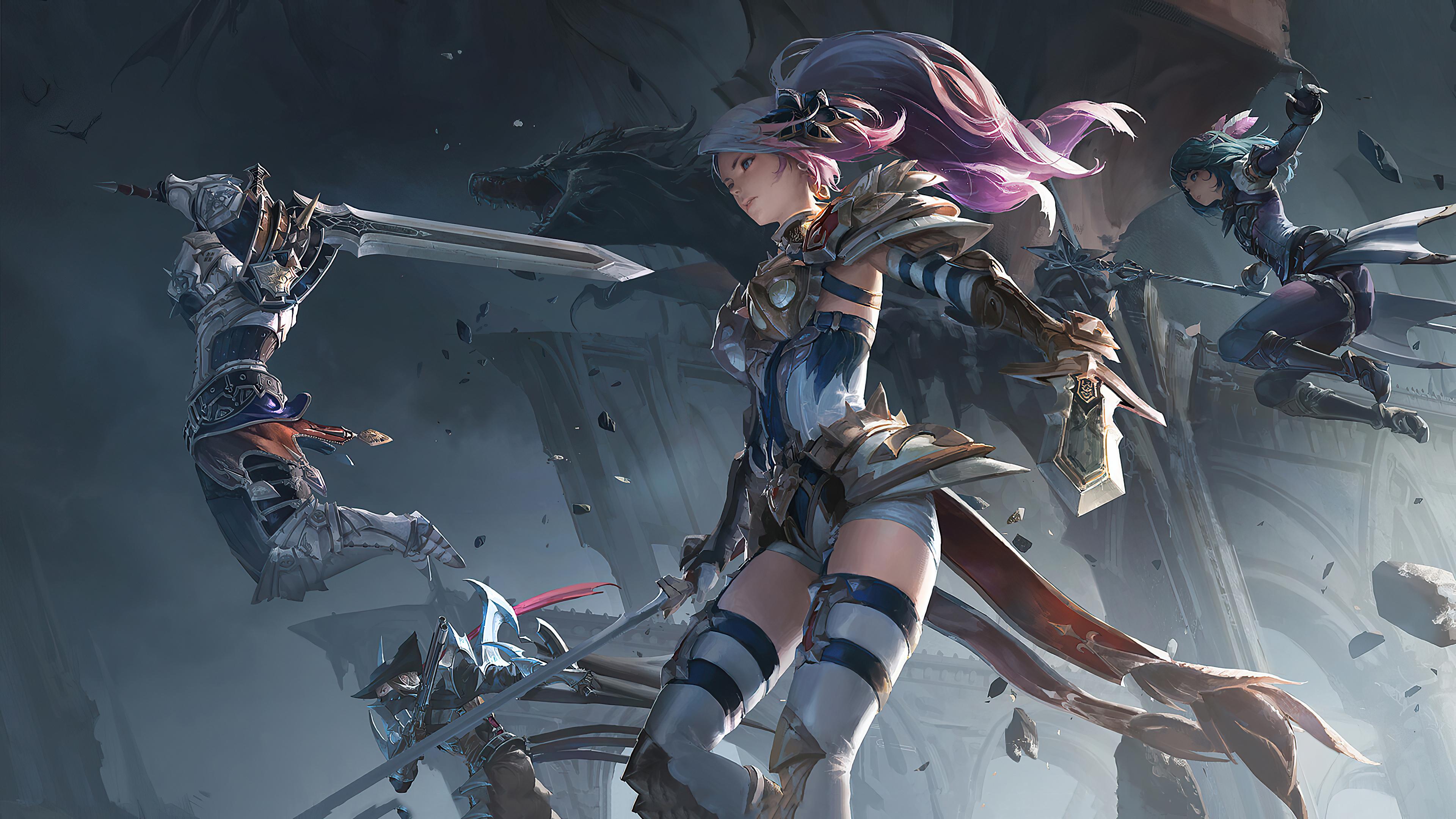 3840x2160 Anime Warrior Girl 4k 4k HD 4k Wallpapers ...