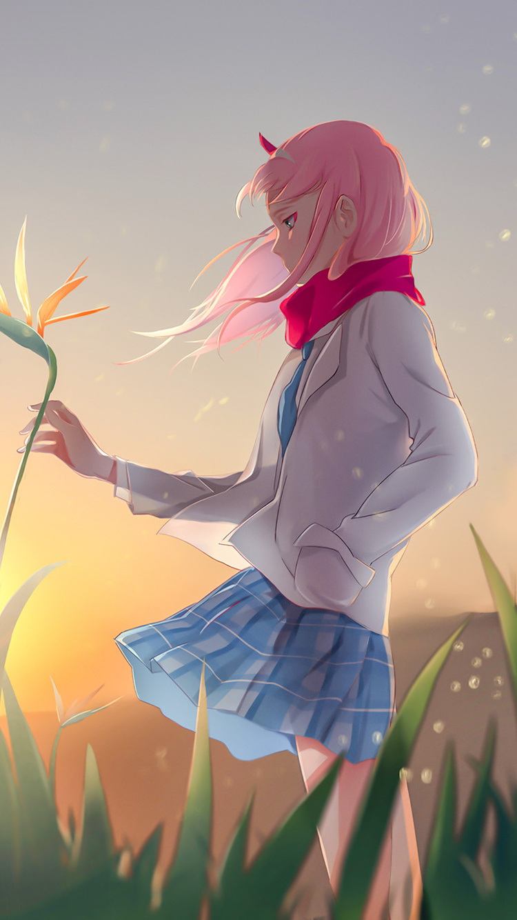 750x1334 Anime Zero Two Darling In The FranXX iPhone 6 ...