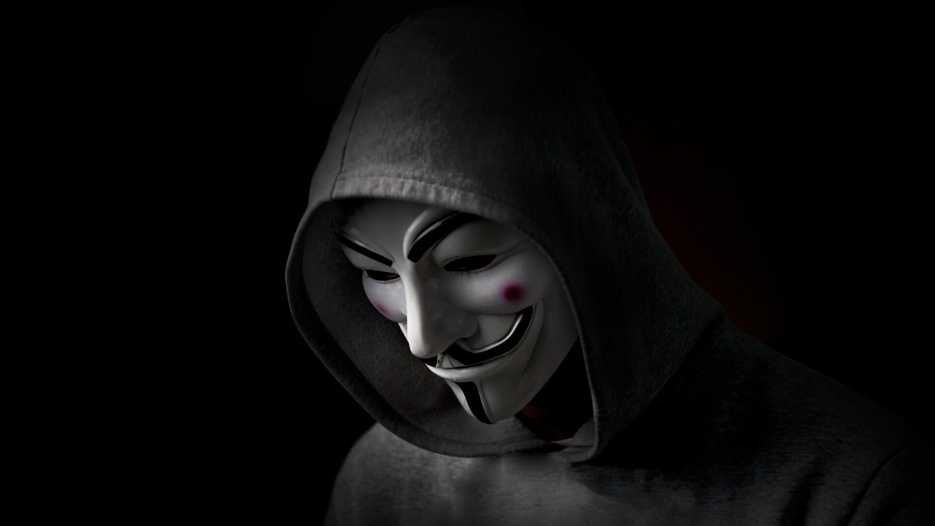 1920x1080 Anonymus Hacker In Hoodie Laptop Full Hd 1080p Hd