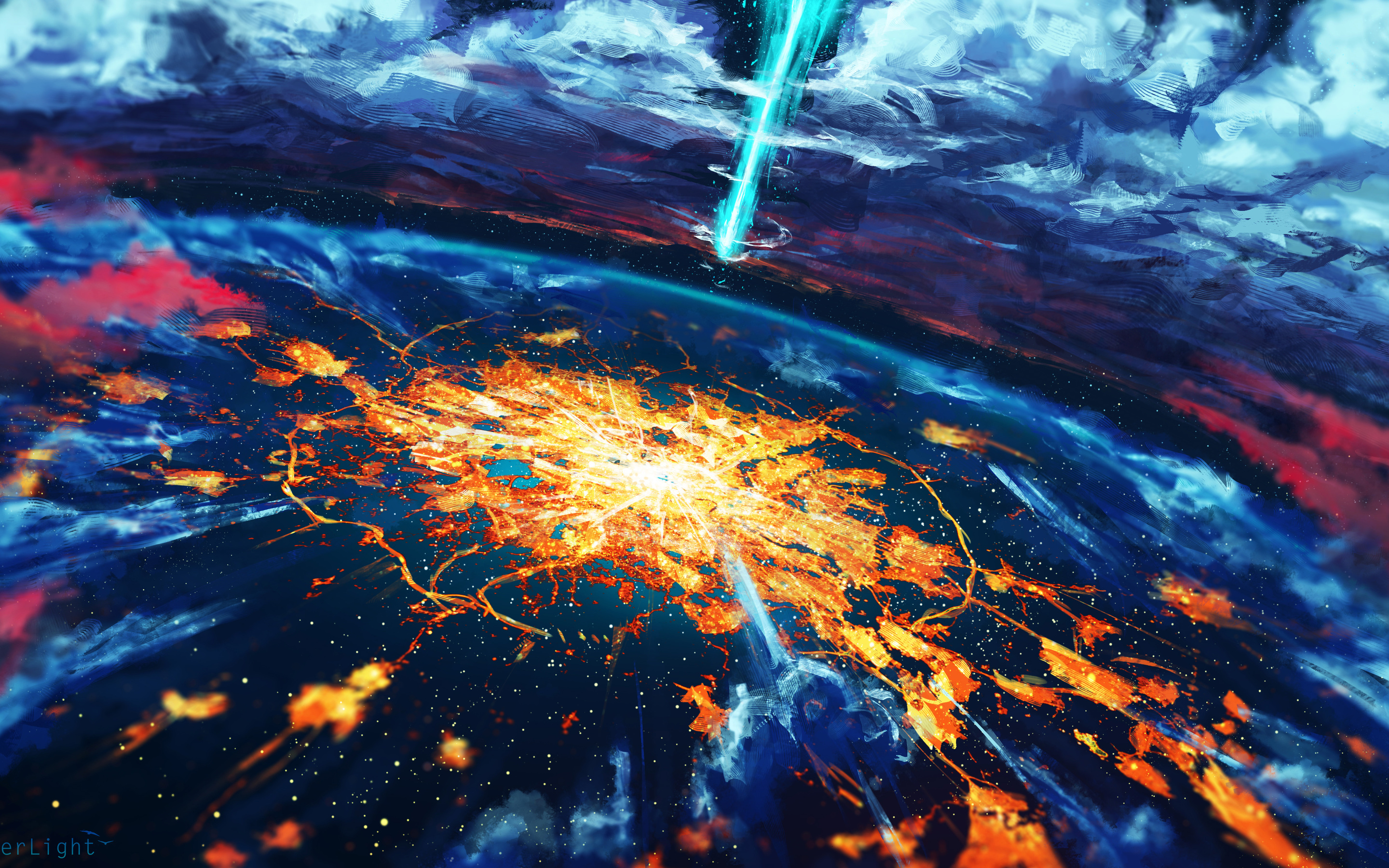 2880x1800 Apocalypse Cosmos Disaster Explosion World ...
