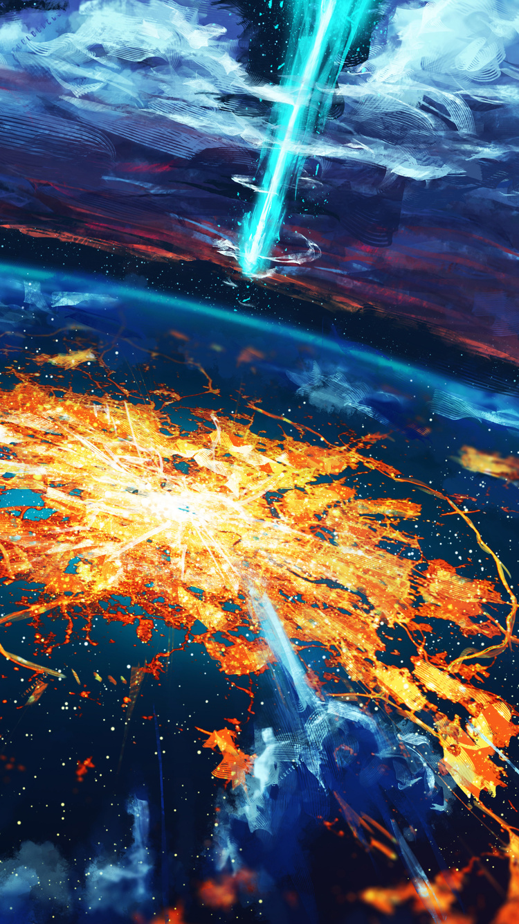 5fe7cbf4b45 Apocalypse Cosmos Disaster Explosion World (iPhone 6, iPhone 6S, iPhone 7)