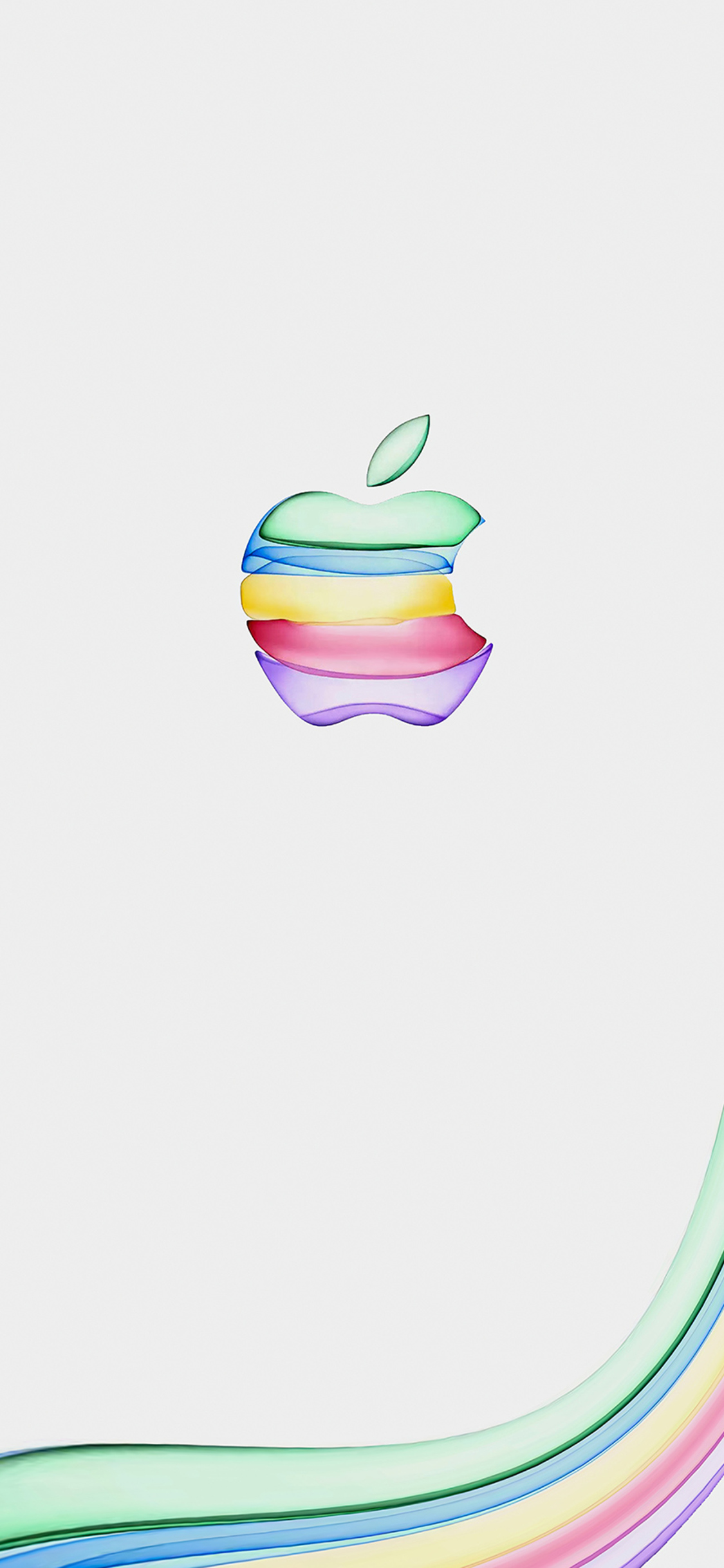 1125x2436 Apple New Colorful Logo 4k Iphone Xs Iphone 10