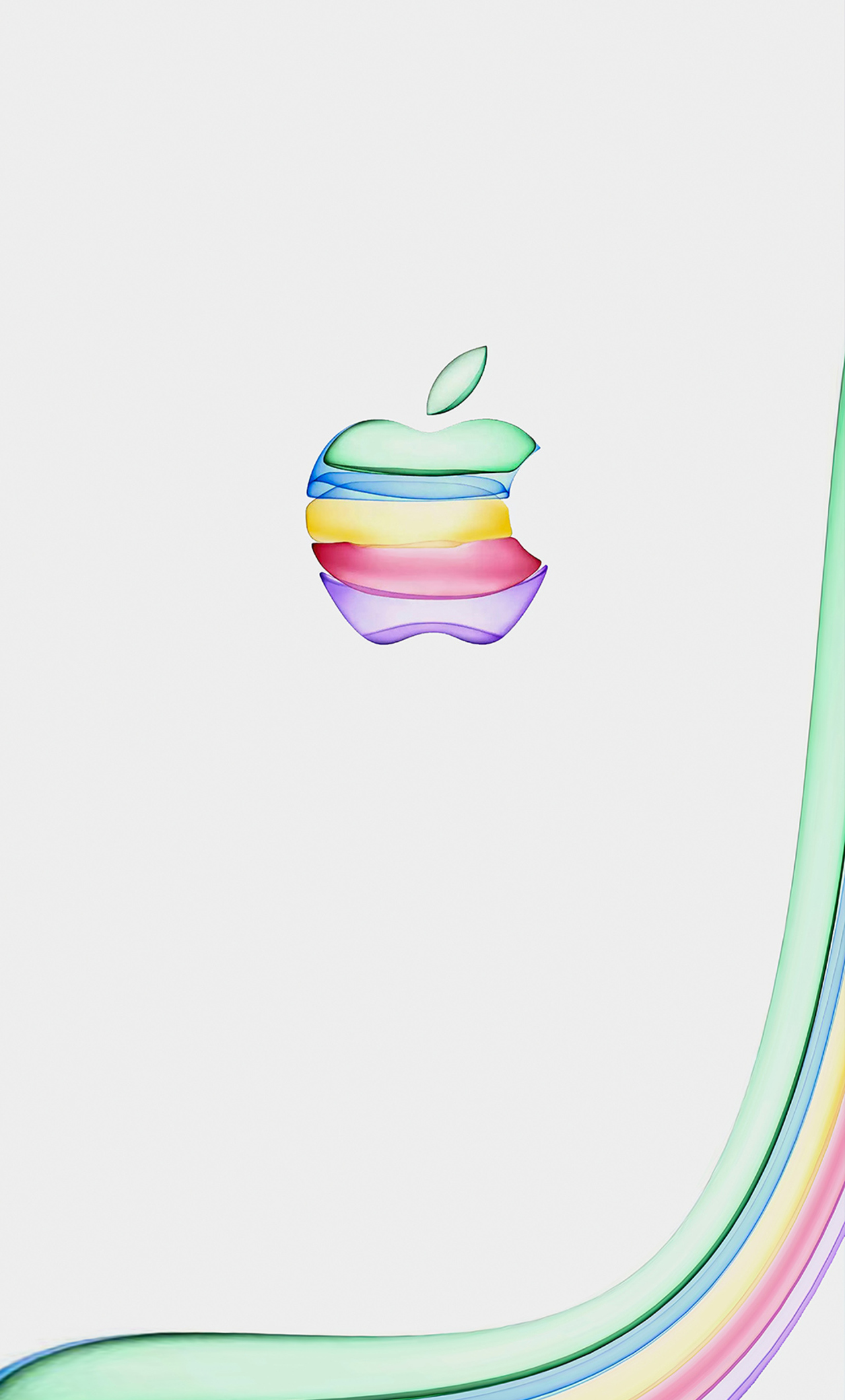 1280x2120 Apple New Colorful Logo 4k Iphone 6 Hd 4k