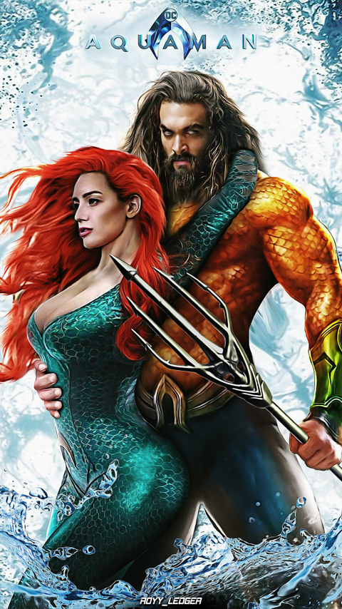 480x854 Aquaman And Mera Art Android One Hd 4k Wallpapers Images