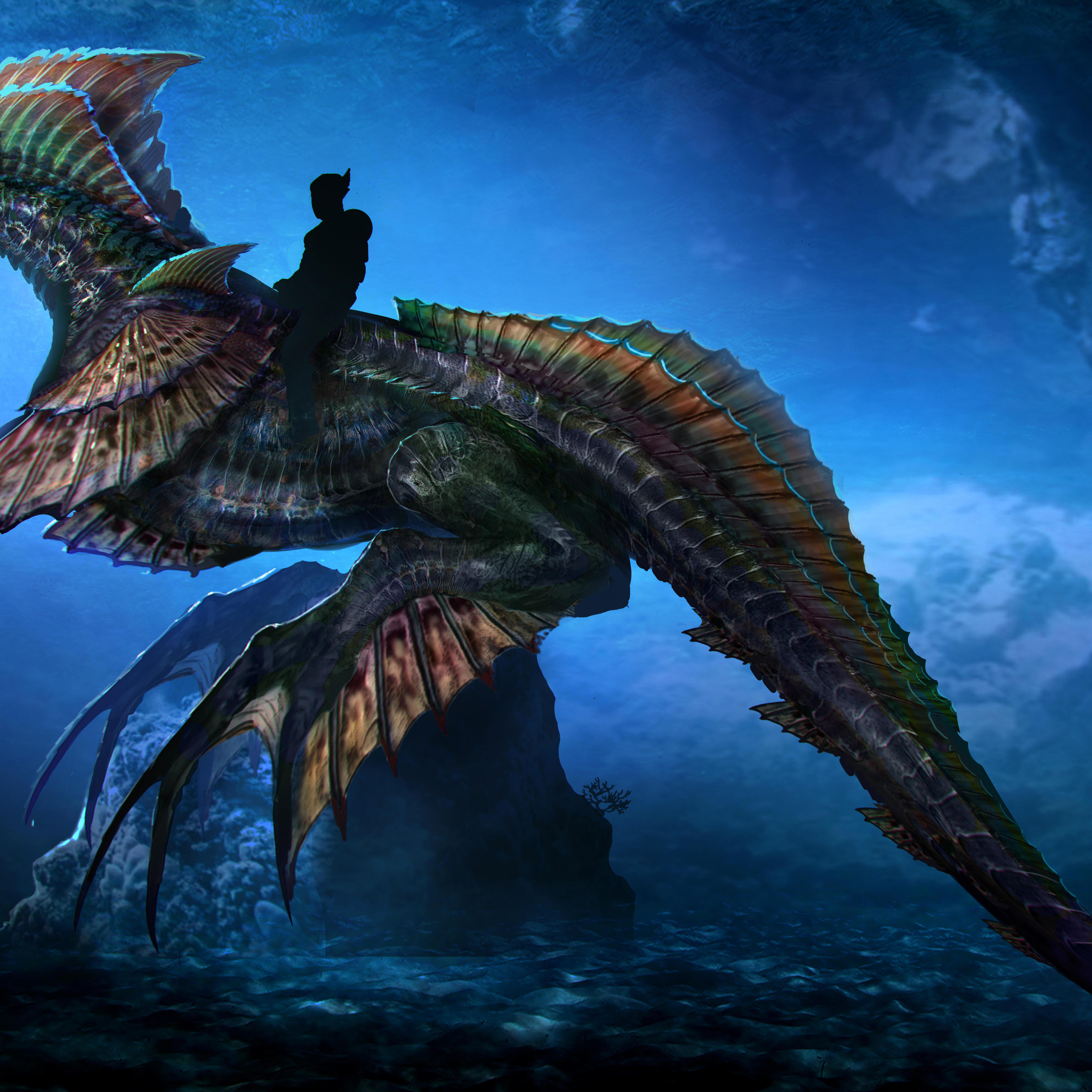 2048x2048 aquaman sea dragon concept art 10k ipad air hd 4k