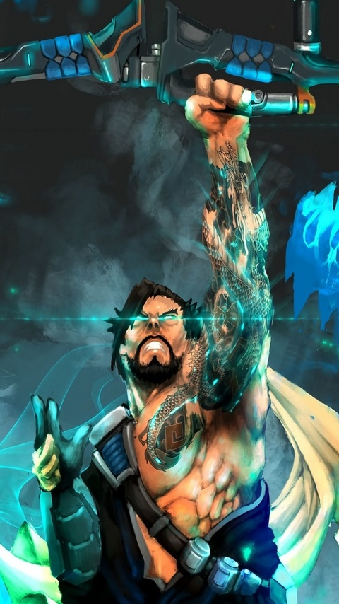 480x854 archer dragon hanzo overwatch android one hd 4k wallpapers
