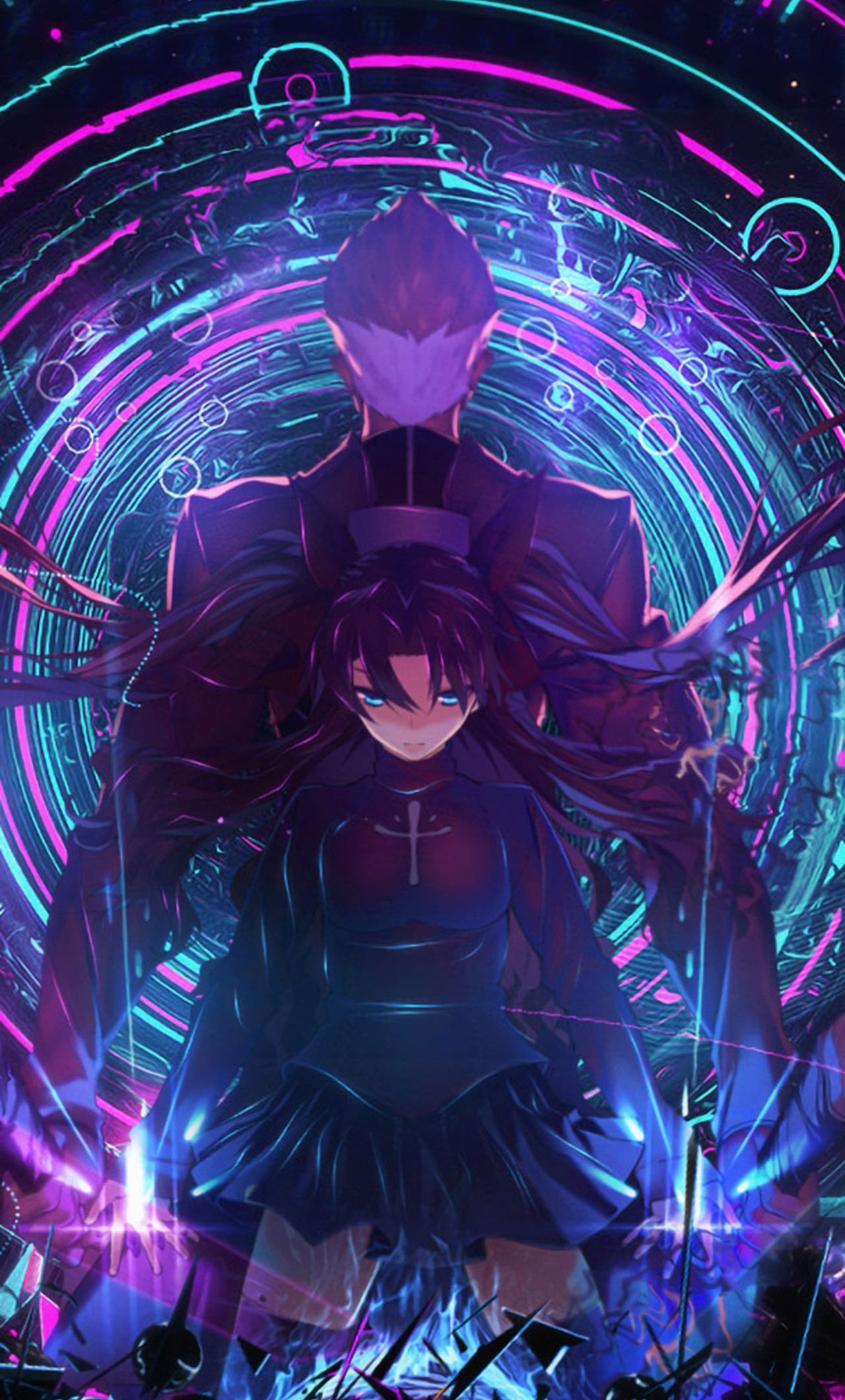 1280x2120 archer fate stay night rin tohsaka iphone 6+ hd 4k