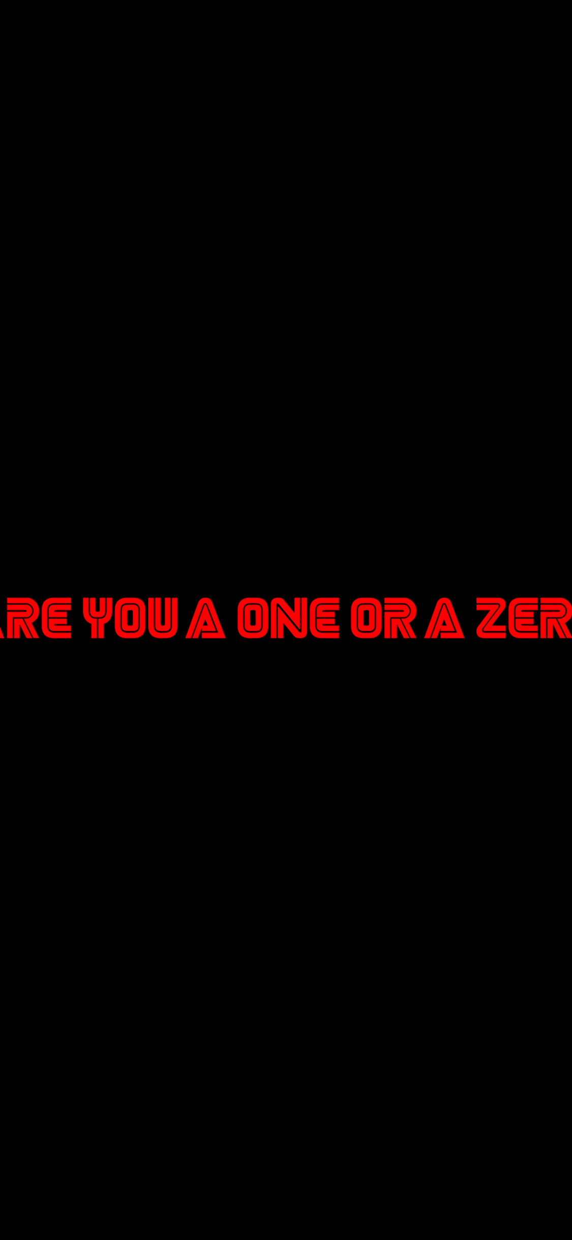 1125x2436 Are You A One Or A Zero Mr Robot Typography 4k Iphone Xs Iphone 10 Iphone X Hd 4k Wallpapers Images Backgrounds Photos And Pictures