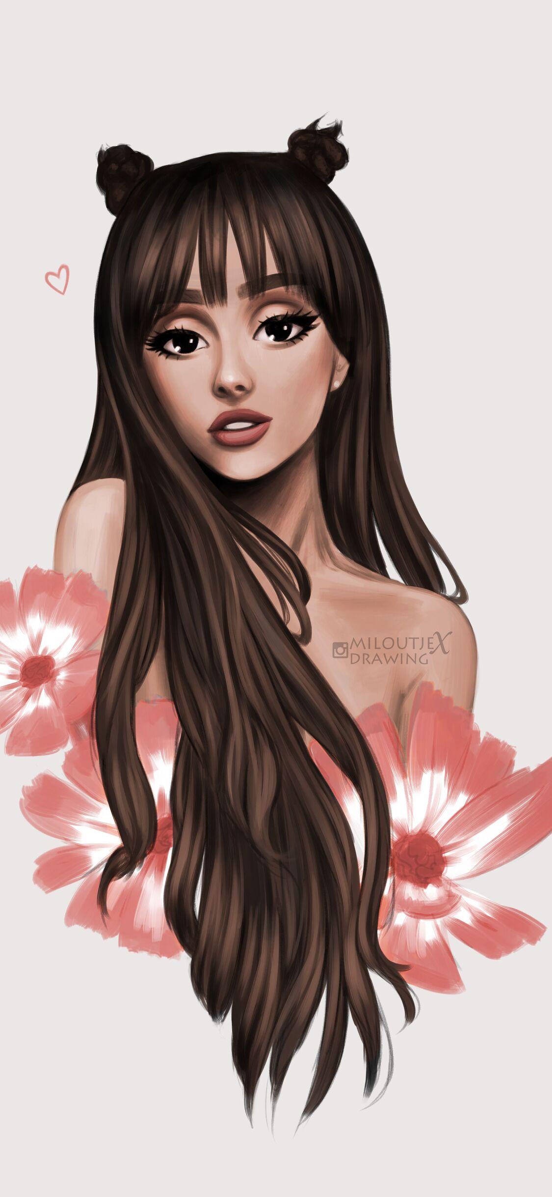 1125x2436 Ariana Grande Cartoon Art 5k Iphone Xs Iphone 10 Iphone