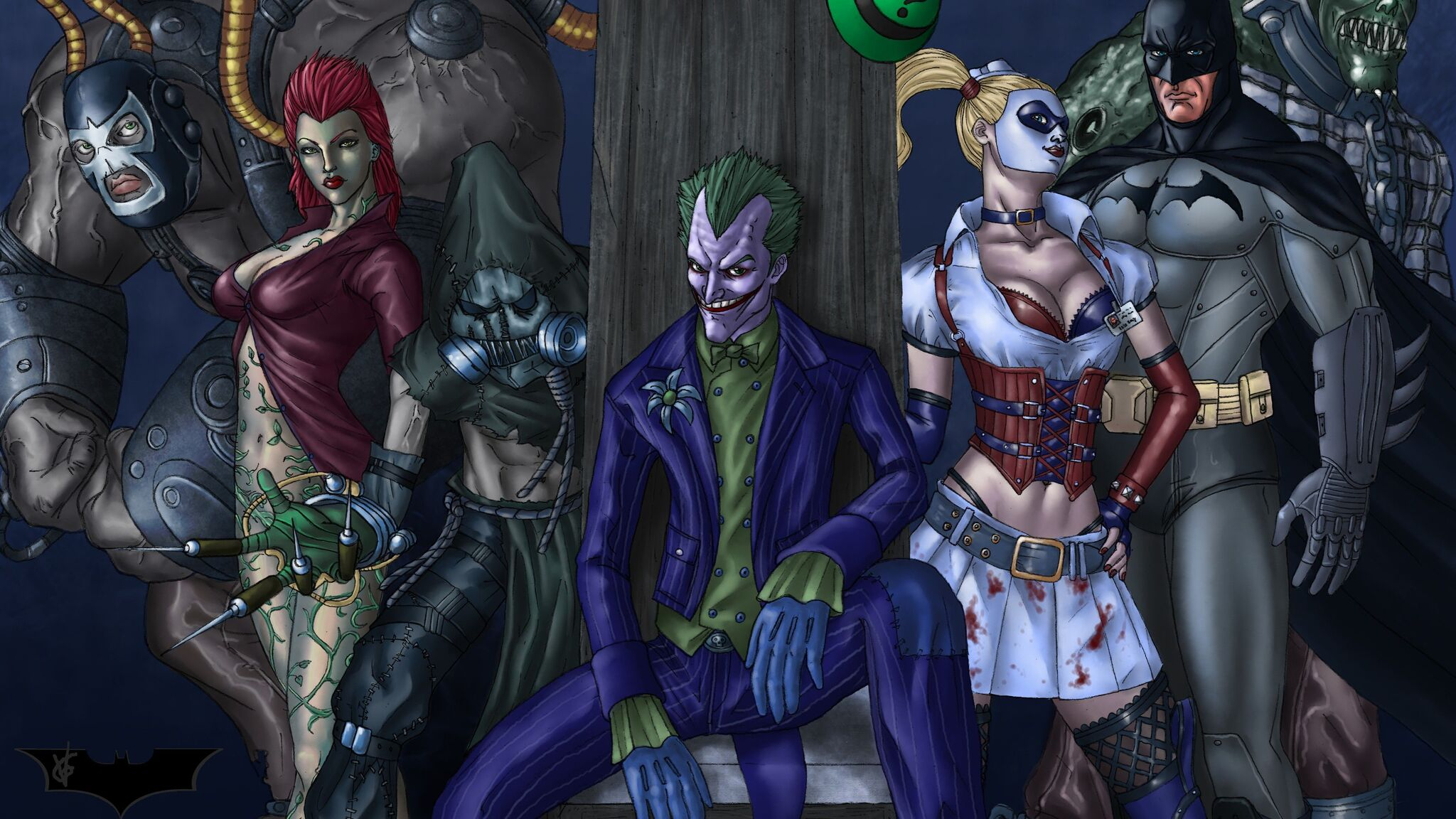 2048x1152 Art Batman Arkham Asylum 2048x1152 Resolution Hd